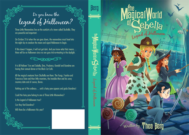 Book Covers Front And Back : Process for creating a book cover legend of halloween